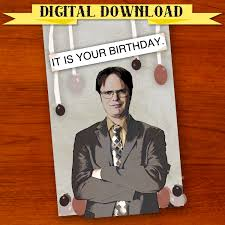 Halloween Birthday Ecard by Dwight Schrute The Office Birthday Card Digital Download