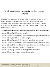 top 8 substance abuse social worker resume samples 1 638 jpg cb u003d1432891852