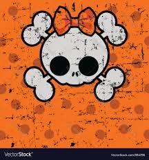 cute halloween cartoons cute halloween skull royalty free vector image