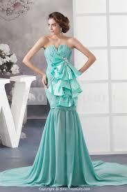 tiffany blue puddle train chiffon v neck cocktail dress