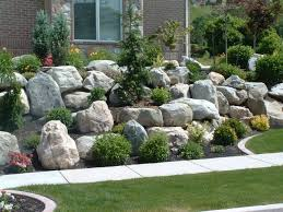 Gardens With Rocks by Piles Or Large Landscape Rocks For Beautiful Gardens With Green
