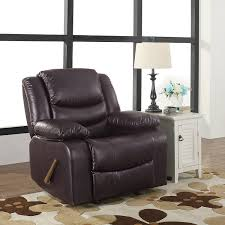 amazon com bonded leather rocker recliner living room chair