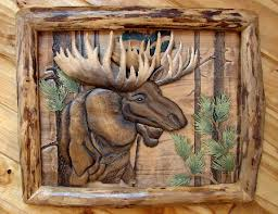 Moose Head Decor Moose R Us Com Intarsia Wood Art Bull Moose Head Log Framed Wall Decor