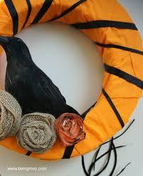 being mvp diy black crow halloween wreath craft orientaltrading