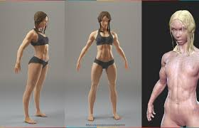 Female Body Reference For 3d Modelling Artstation Fit Female Basemesh Vasil Peychev