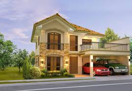 two story home designs clever design two storey house with terrace philippines 15 2 story