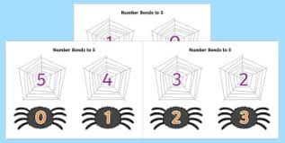 number bonds to 5 primary maths resources page 2