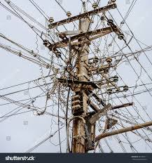 Messy Wires by Out Focus Messy Electrical Cables India Stock Photo 261982511