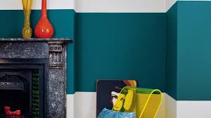creative colour blocking with teal dulux