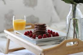 Breakfast In Bed Table by Chocolate Raspberry Protein Pancakes Recipe