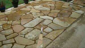 outdoor living beautiful backyard design with flagstone patio