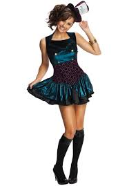 black dress for halloween party mad hatter costume teen sized mad hatter costume for girls now
