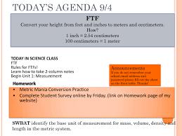 metric conversion presentation