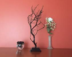 copper painted manzanita tree wedding centerpiece wishing