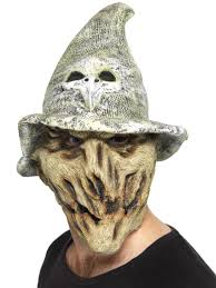 scarecrow halloween mask horror movie masks partynutters uk
