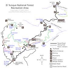 Maps Puerto Rico by El Yunque Trail Map Puerto Rico Day Trips Travel Guide