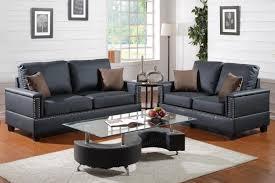 arri black leather sofa and loveseat set steal a sofa furniture