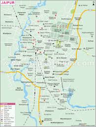 Map Of India Cities Jaipur Map