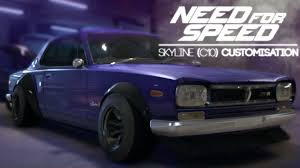 need for speed 2015 nissan 2000 gtr c10 customisation and