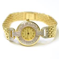 yellow quartz bracelet images Geneve 25mm 14k yellow gold ladies watch property room JPG