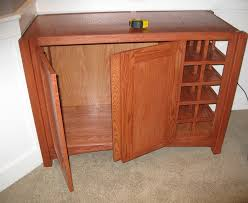 Lacquer Bar Cabinet Custom Oak Bar Cabinet All Season Contractors Net