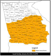 Atlanta Georgia Zip Code Map january 28 2014 winter storm