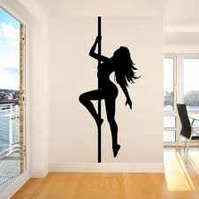 aliexpress com buy pole dancer sexy lady vinyl wall art room aliexpress com buy pole dancer sexy lady vinyl wall art room sticker decal silhouette woman dace door window stencils mural decoration from reliable vinyl