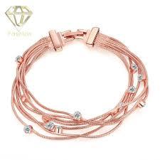 rose crystal bracelet images Artificial jewellery online 2017 luxury fashion rose gold color jpg