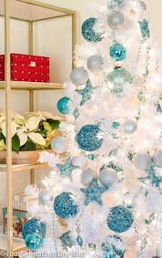 our blue white tree tree garlands