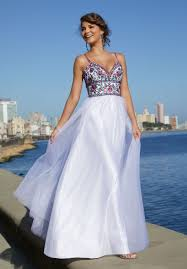 prom style wedding dress soft net slim a line prom dress with a beaded floral embroidered