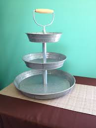 galvanized cake stand galvanized 3 tiered stand party time rentalsparty time rentals