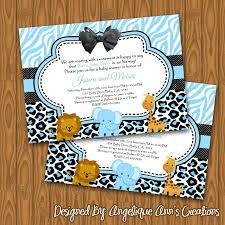 safari baby shower invitations baby shower invitations