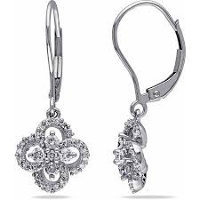 leverback diamond earrings cheap leverback diamond earrings white gold find leverback