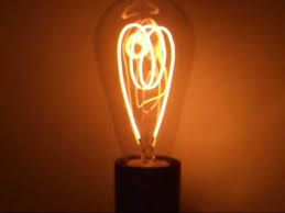 100 year old carbon filament light bulb youtube