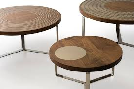 coffee table walnut contemporary coffee table walnut round moods ounovis
