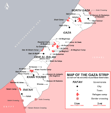 Michigan Map With Cities by Maps Of Gaza Strip Detailed Map Of Gaza Strip In English Road