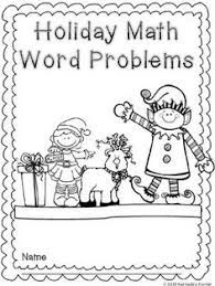 free math worksheets christmas word problems free printable