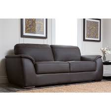 Leather Couches And Loveseats Abbyson Ashton Brown Top Grain Leather 2 Piece Living Room Set