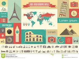 travel infographic template royalty free stock photography