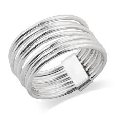 rings silver bands images Mimi 925 sterling silver 7 day 7 band stacked ring jpg