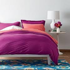 Duvet Cover Purple Solid Jersey Knit Duvet Cover U0026 Sham The Company Store