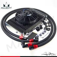 oil cooler fan kit an10 15 row oil cooler 7 electric fan kit for bmw e36 e46 135 e90