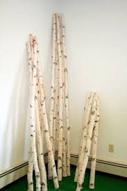 birch tree decor decorative birch poles