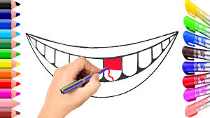 lip and teeth coloring page learn coloring for children youtube