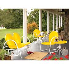 Yellow Patio Chairs Furniture Retro Metal Patio Chairs Colored Yellow Patio