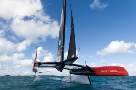 aerial images of oracle team usa from america u0027s cup