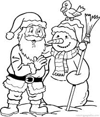 colouring pages santa claus funycoloring