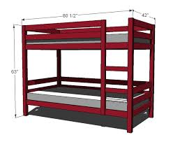 Easy And Strong 2x4 U0026 2x6 Bunk Bed 6 Steps With Pictures by Ana White Build A Classic Bunk Beds Free And Easy Diy Project
