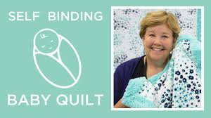 self binding baby blanket with shannon cuddle youtube