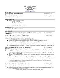 exle of a student resume ideas collection certified optician resume marvelous optometrist